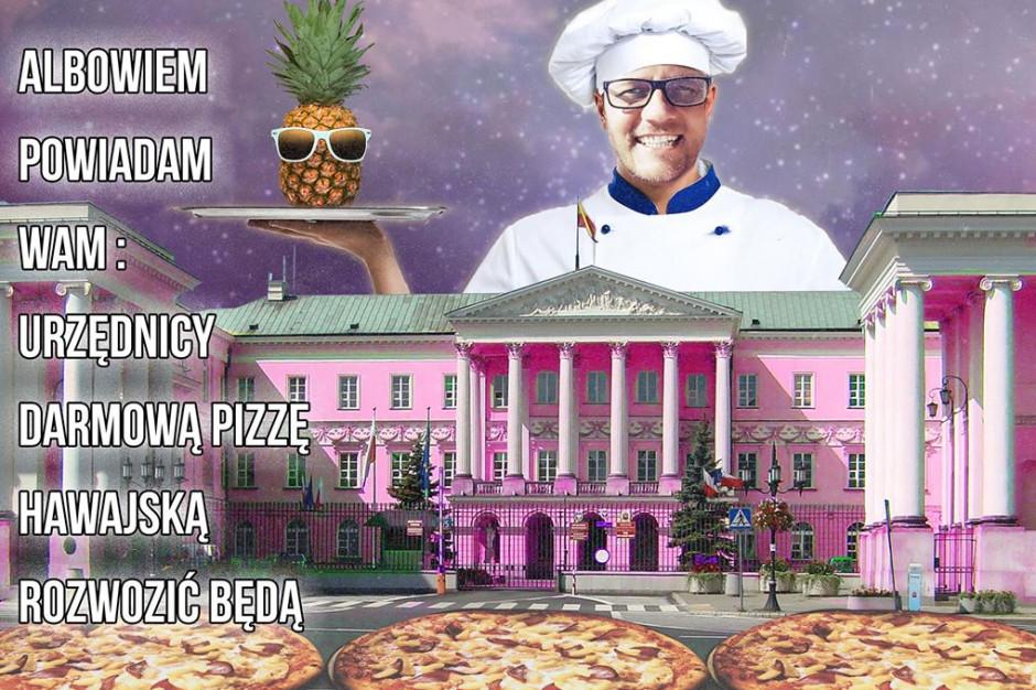 Tanajno chce być prezydentem Warszawy: Pizza hawajska dla wszystkich!