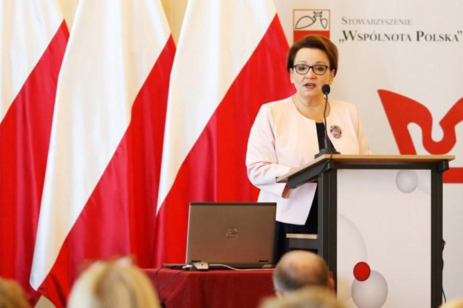 Zalewska: Wniosek o odwołanie to dobry moment na podsumowanie naszych reform