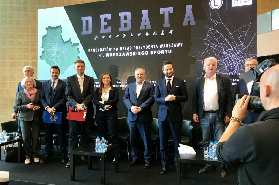 Sport w Warszawie. Kandydaci na prezydenta stolicy starli się w pierwszej debacie
