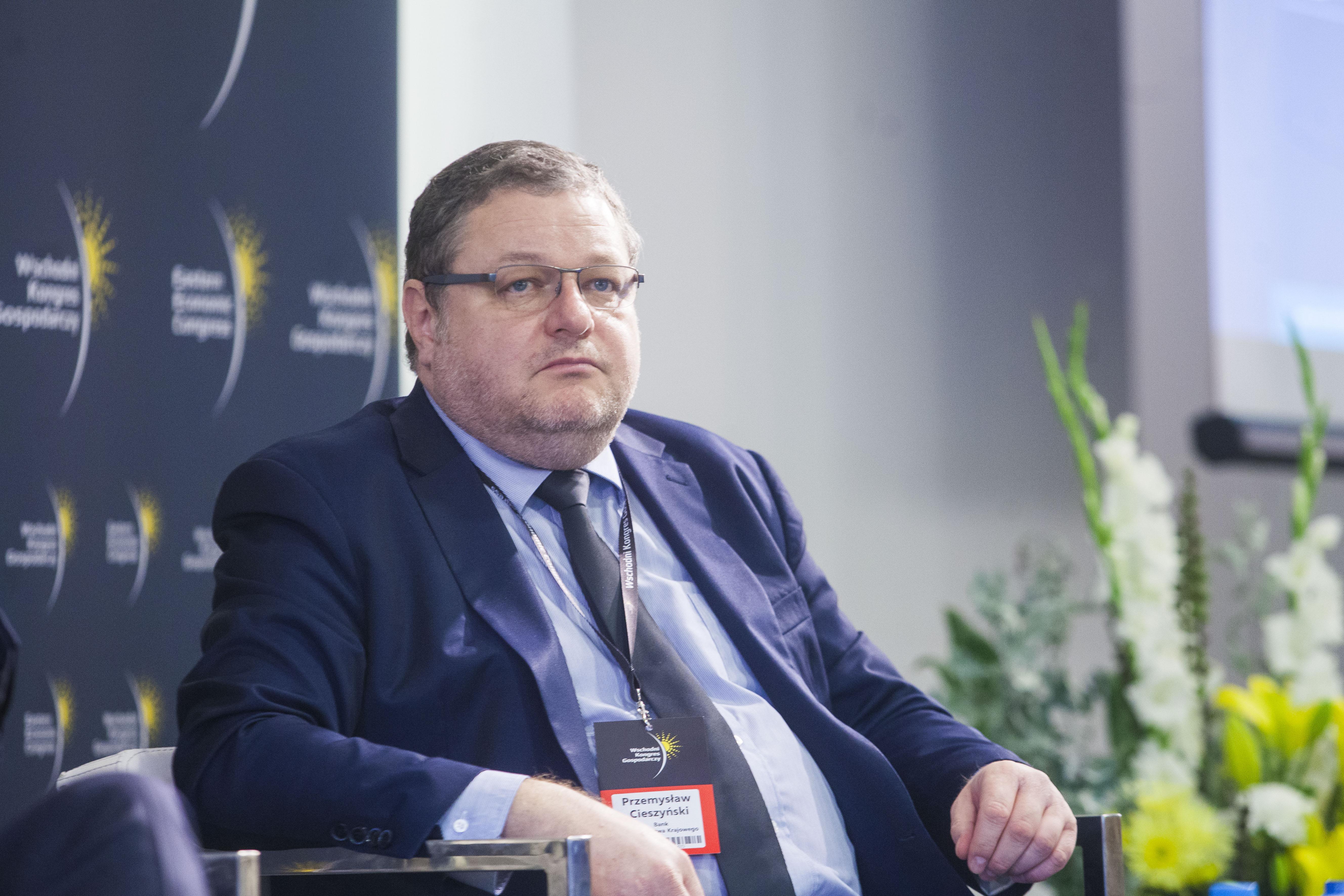 Przemysław Cieszyński, członek zarządu Banku Gospodarstwa Krajowego. Fot. PTWP
