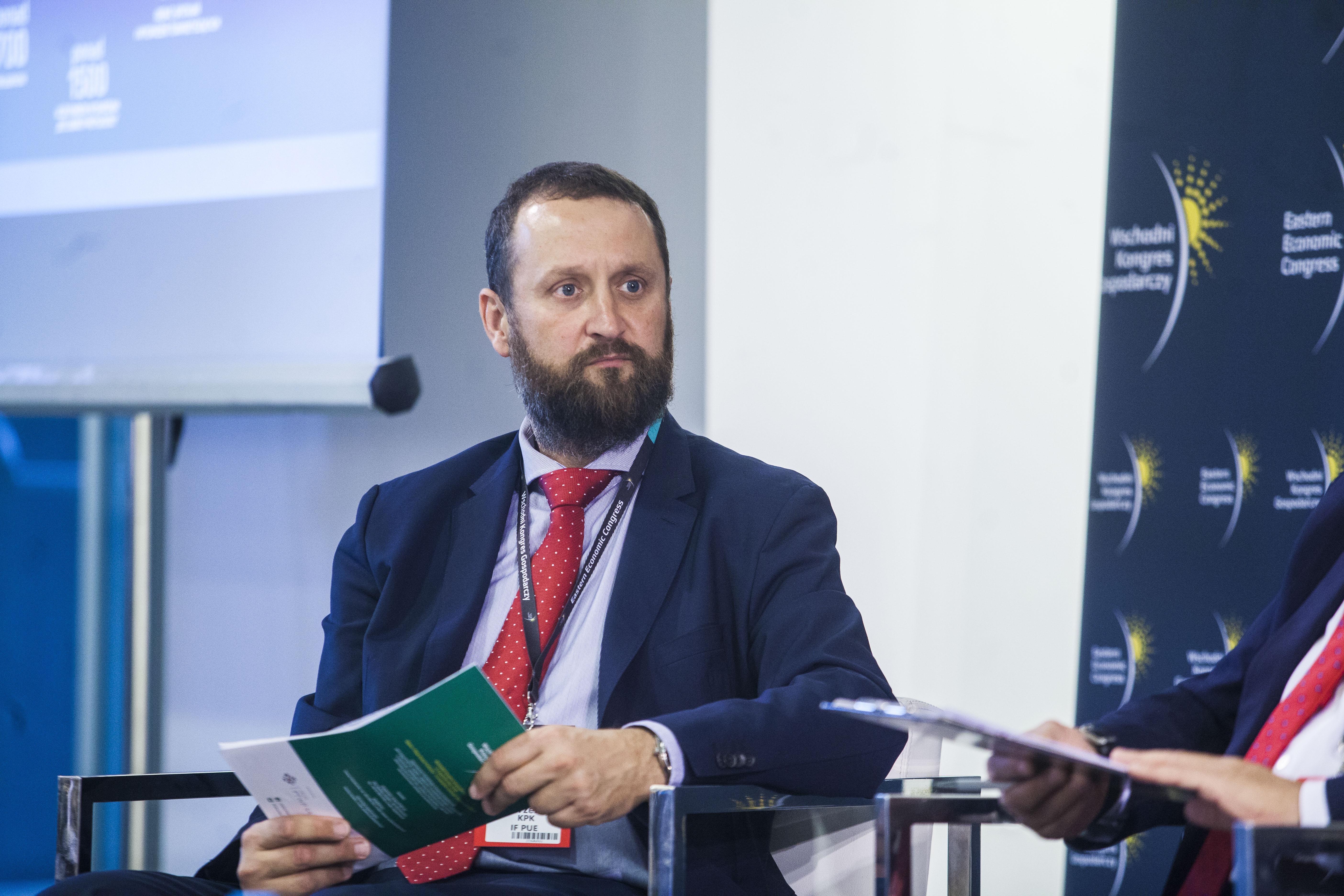 Michał Gorzelak, koordynator ds. Instrumentów Dłużnych, KPK IF PUE. Fot. PTWP