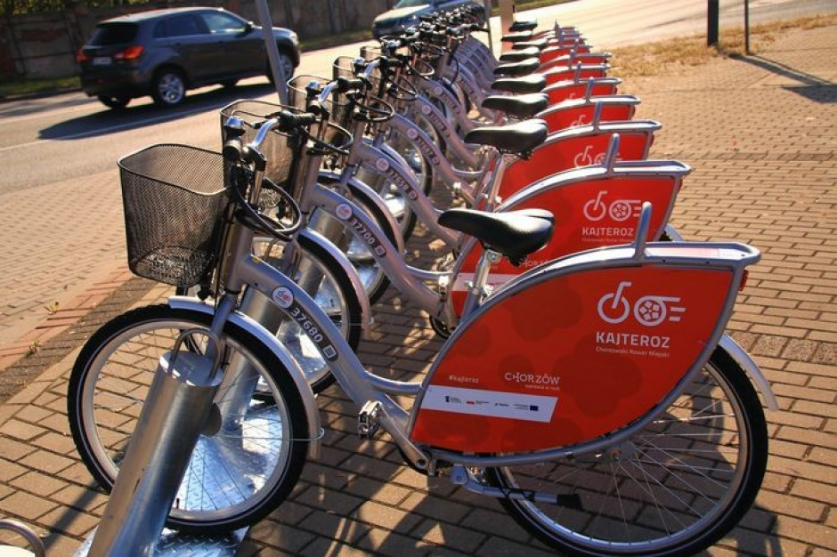 W Chorzowie ruszył system rowerów miejskich