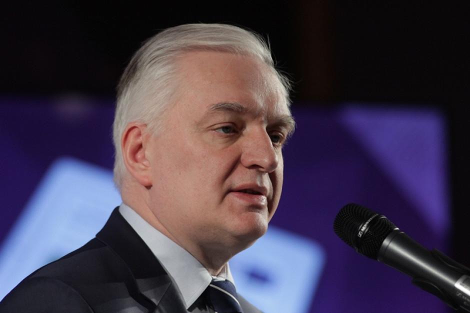 Jarosław Gowin zaskoczony udziałem rektora w wyborach