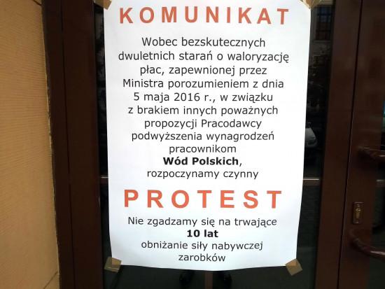 Pracownicy są zdeterminowani i gotowi do dalszych protestów ze strajkiem włącznie (fot. nszzsolidarność)