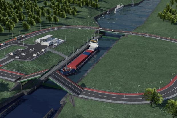Wizualizacja kanału żeglugowego przez Mierzeję Wiślaną (fot. Ministerstwo Gospodarki Morskiej i Żeglugi Śródlądowej)