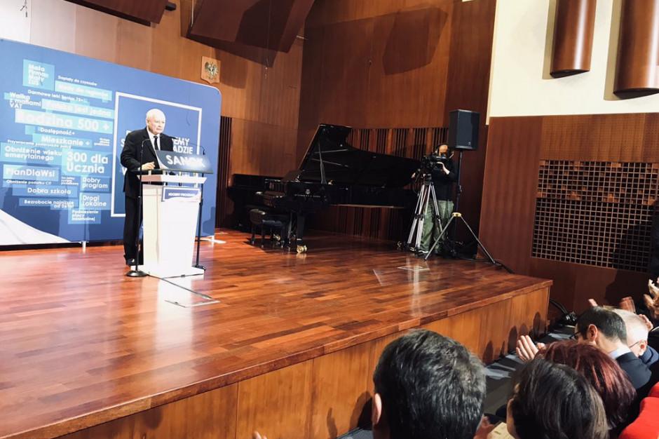 Jarosław Kaczyński w Sanoku: I tura wyborów to ogromny sukces PiS-u