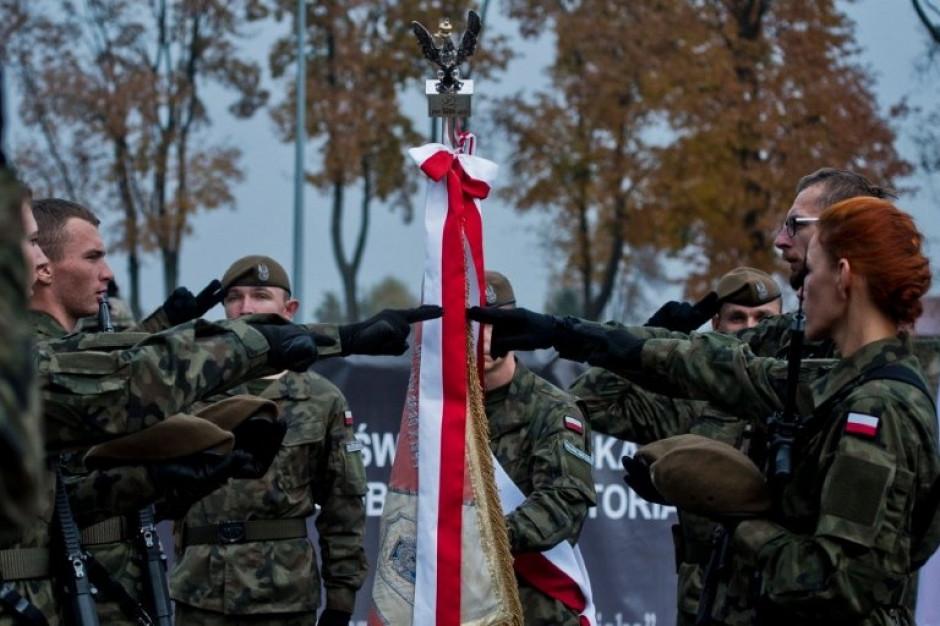 Przysięga żołnierzy 13. Śląskiej Brygady Obrony Terytorialnej w Gliwicach