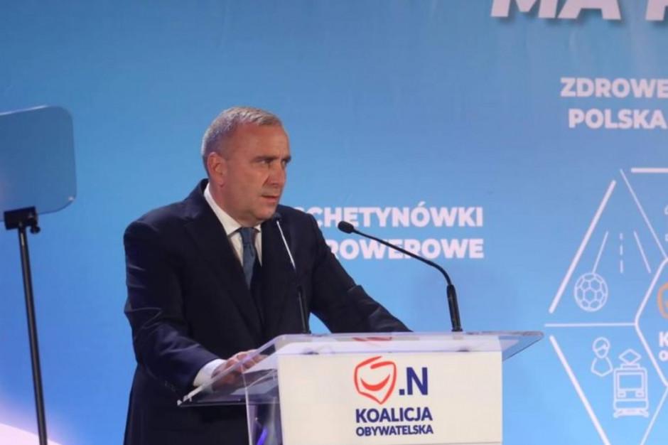 Wybory, Choszczno: Grzegorz Schetyna udzielił poparcia Robertowi Adamczykowi