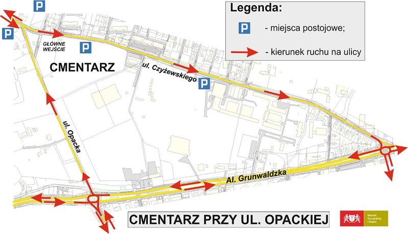 Gdańska reorganizacja ruchu w okolicach nekropolii. (fot. gdansk.pl)