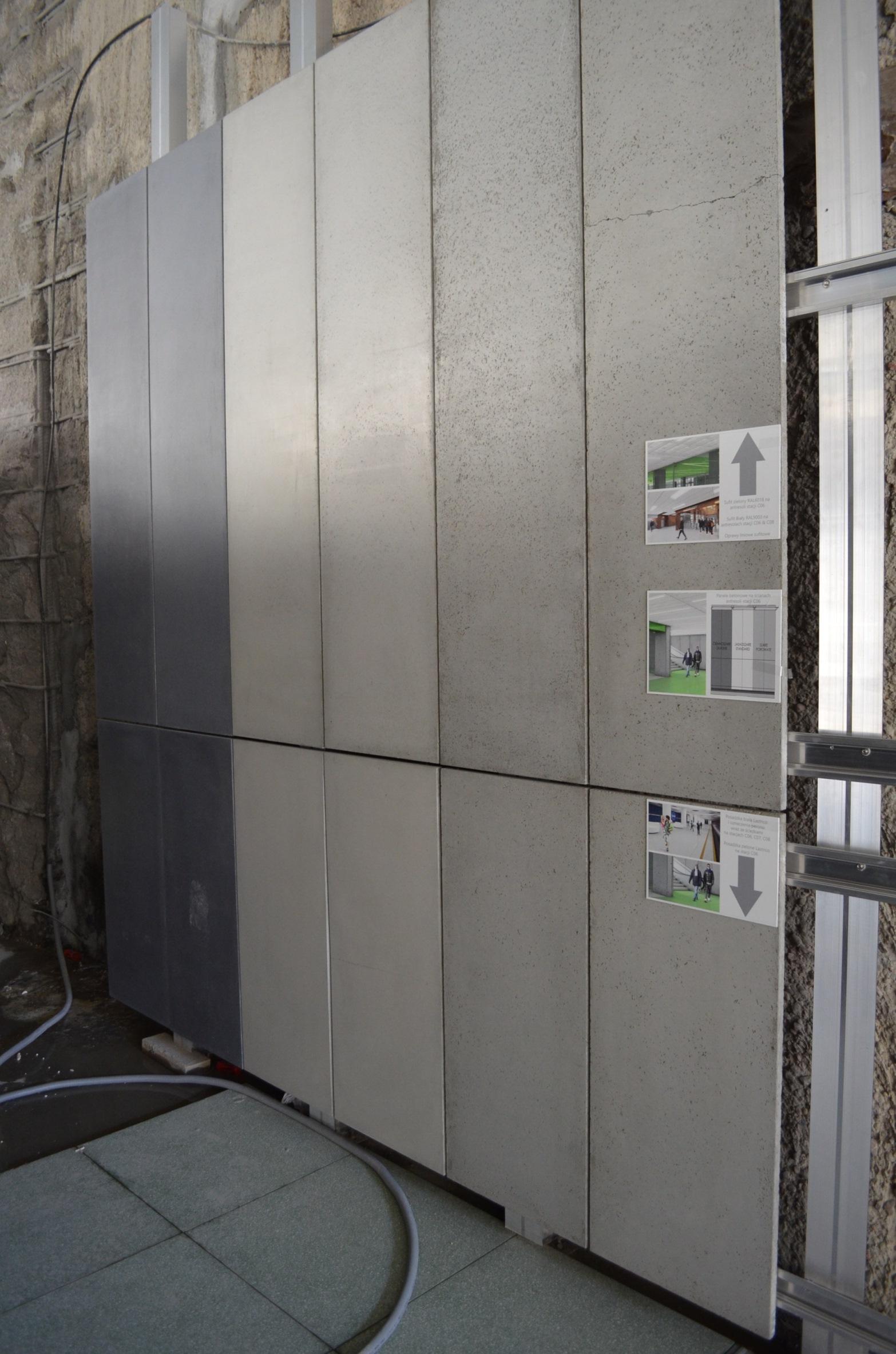 Makiety betonowych paneli antresoli  fot. UM Warszawa