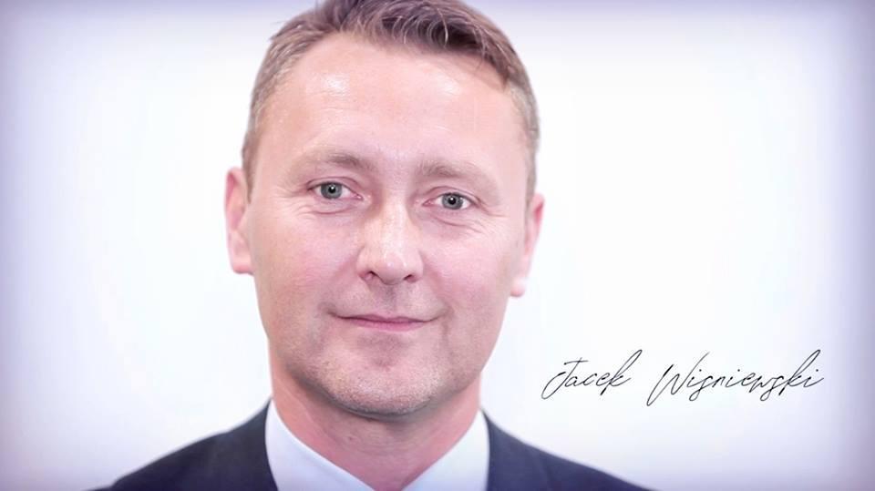 Na Jacka Wiśniewskiego głosowało 54,82 proc. (Fot. Facebook/Jacek Wiśniewski)
