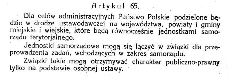 Art 65 Konstytucji MarcowejŹródło: Internetowy System Aktów Prawnych