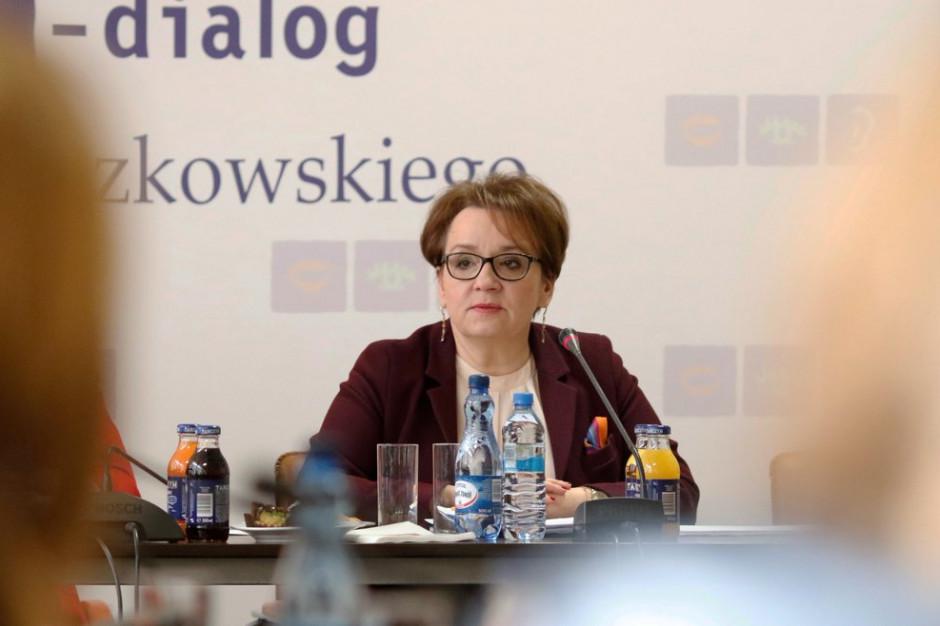Anna Zalewska: kryteria oceny pracy nauczyciela i wskaźniki będą w rozporządzeniu