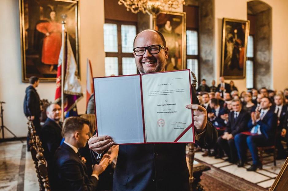 Paweł Adamowicz został zaprzysiężony na prezydenta Gdańska