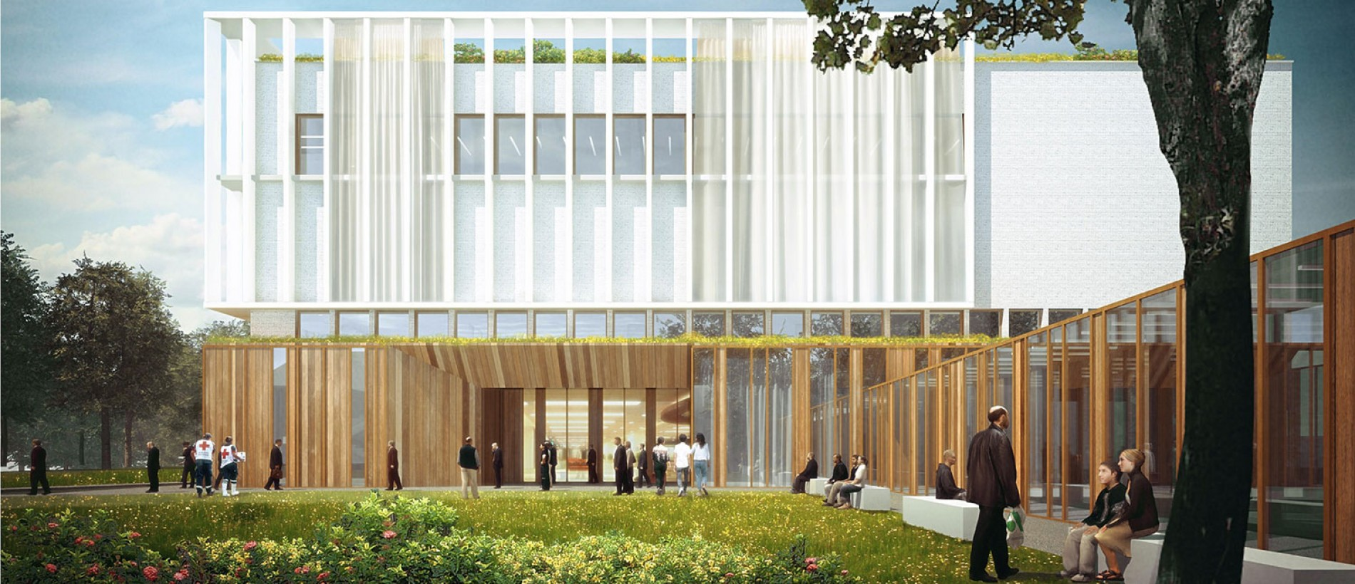 Koncepcję szpitala przygotowali architekci z warszawskiej pracowni Archimed (fot. czsk.edu.pl)