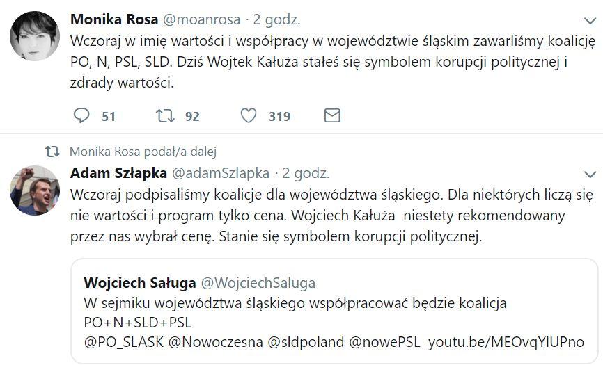 Głos w sprawie sytuacji w woj. śląskim zabrali także politycy Nowoczesnej.