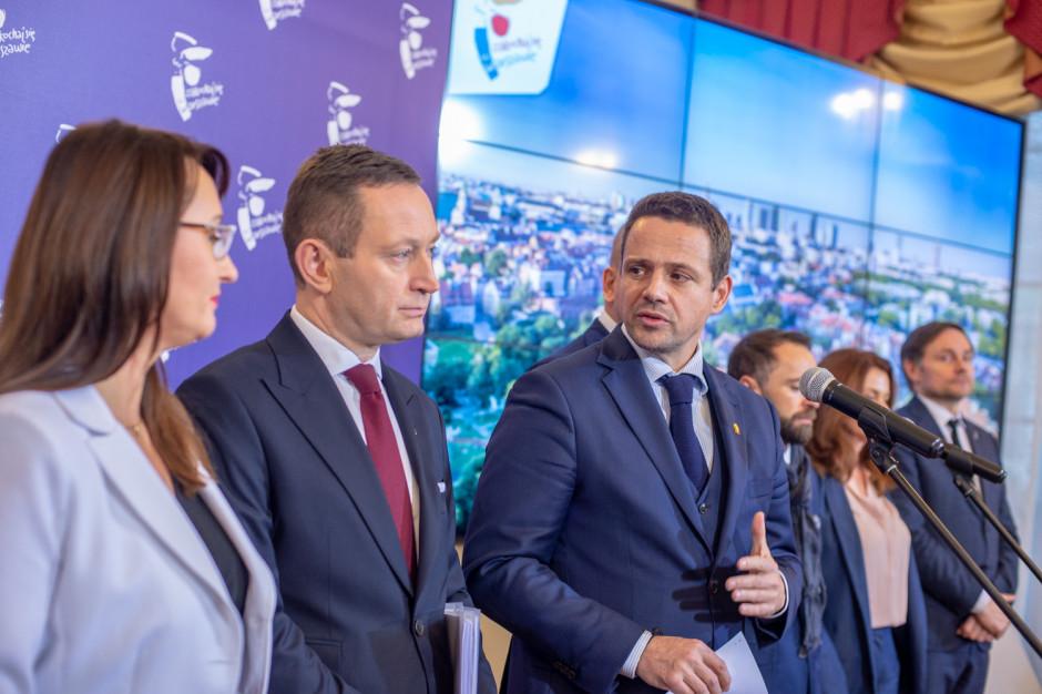 Prezydent Warszawy Rafał Trzaskowski zaprezentował swoich współpracowników