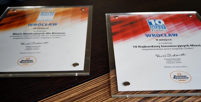 Wrocław otrzymał w tym roku dwa wyróżnienia na Kongresie Regionów (fot. wroclaw.pl)