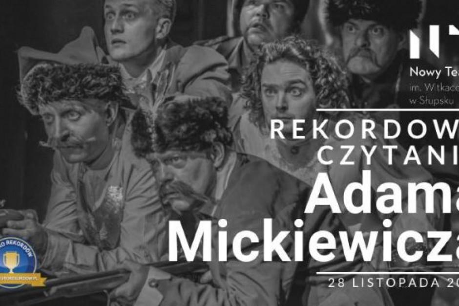 """Słupsk ustanowił rekord Polski w czytaniu """"Pana Tadeusza"""""""