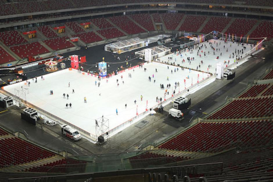 Warszawa: Pożar na PGE Stadionie Narodowym