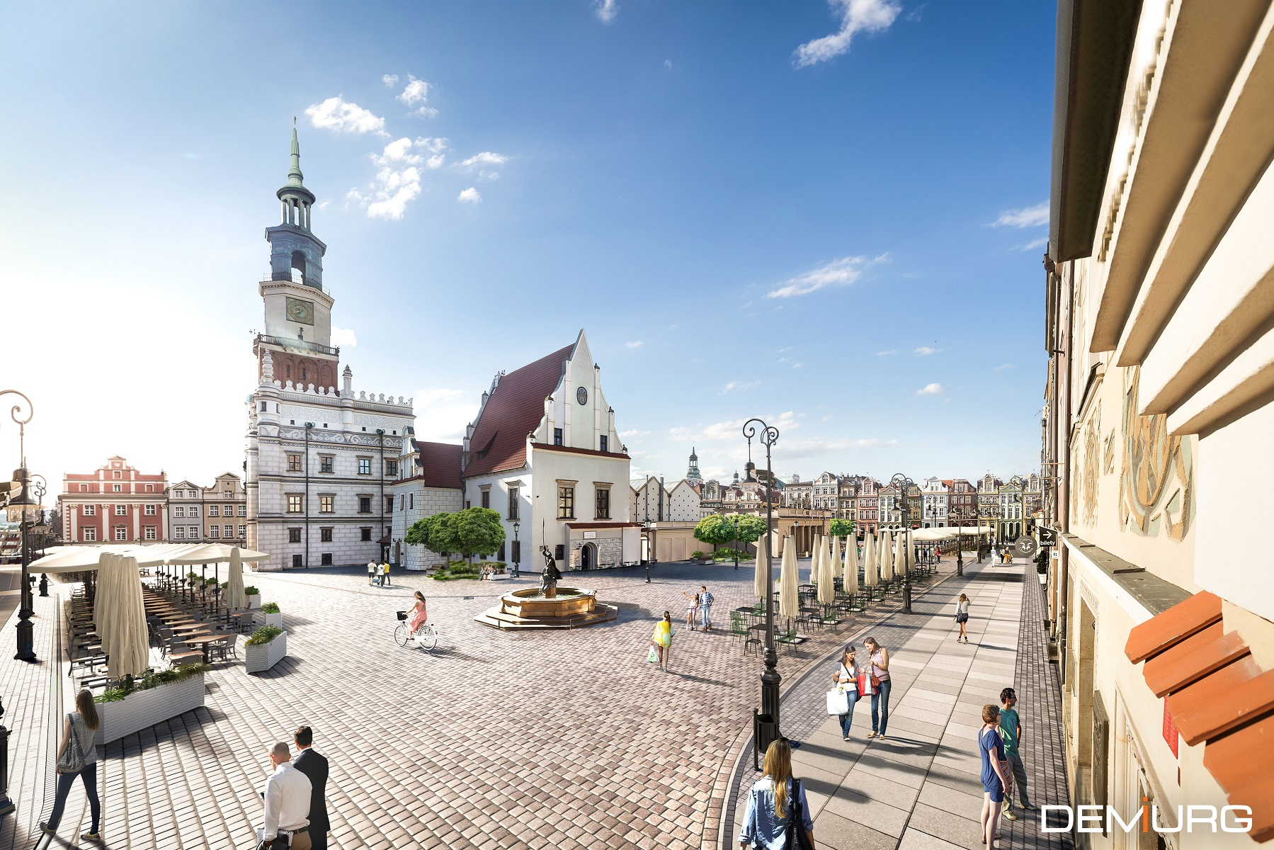 Według koncepcji zmienić ma się płyta Starego Rynku (fot. Demiurg / poznan.pl)