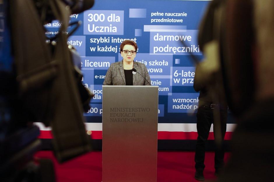 Anna Zalewska: Reforma edukacji przebiegała sprawnie. Zrealizowaliśmy wszystko co zaplanowaliśmy