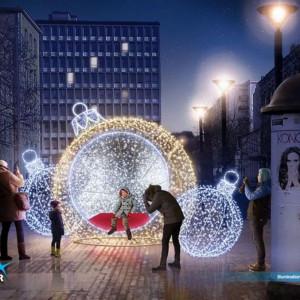 Dokładnie 180 elementów świątecznej iluminacji do Łodzi przywiozło 5 tirów, a 20 pracowników zajęło się ich montażem (fot. UM Łódź)