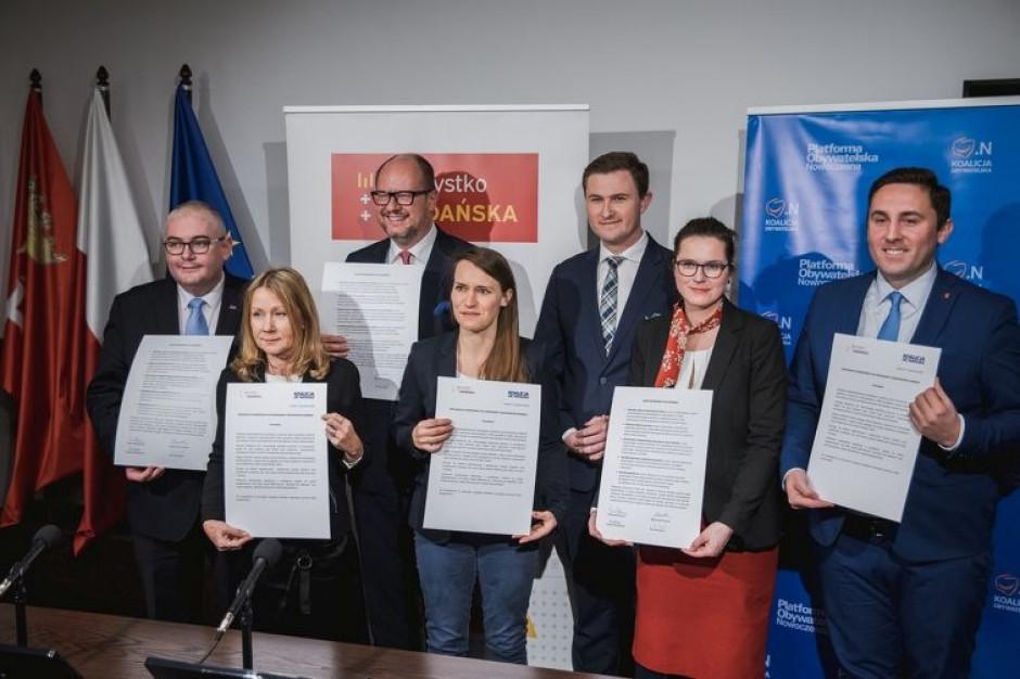 """Porozumienie o współpracy między KO a """"Wszystko dla Gdańska"""""""