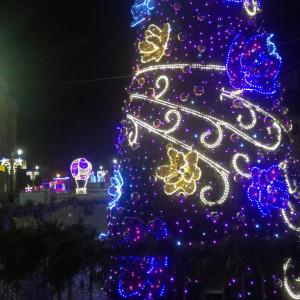 Na legnickim rynku oprócz choinki ustawiono kilkanaście bajecznych elementów świątecznej iluminacji. fot. UM Legnica