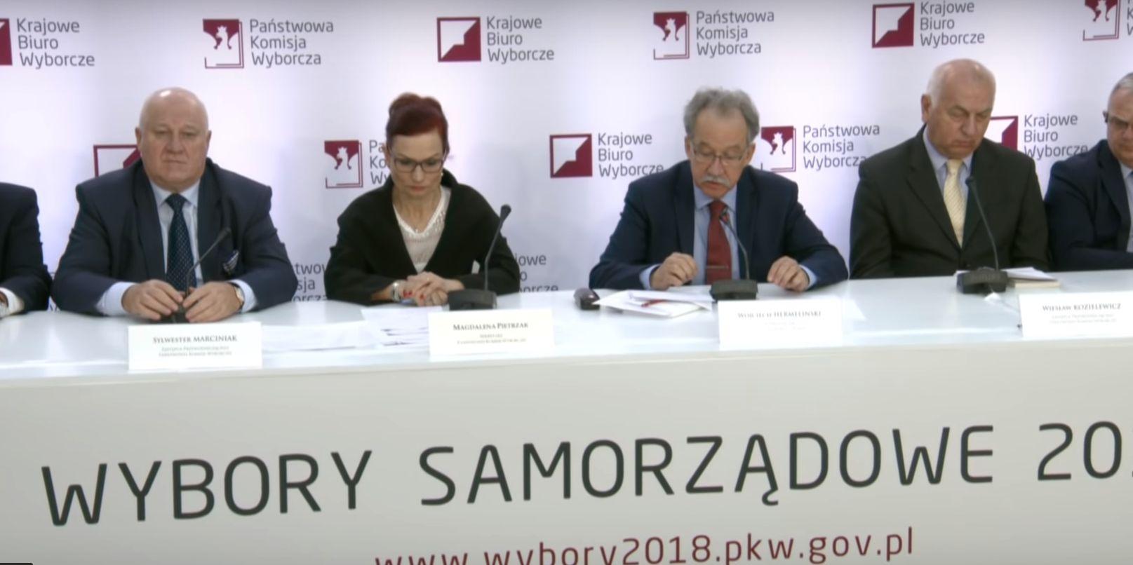 Konferencja prasowa Państwowej Komisji WyborczejMat. PKW