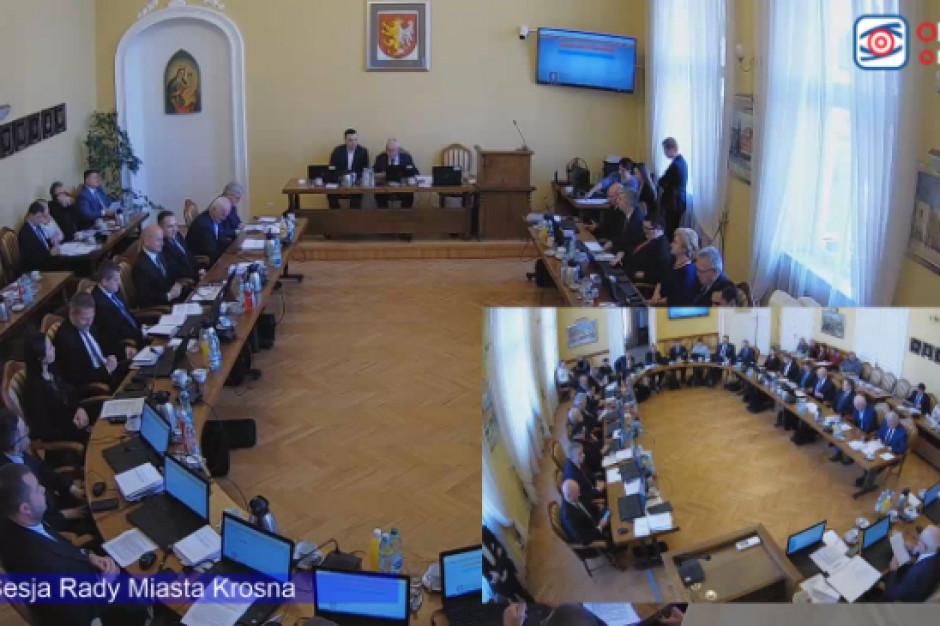 Jawne obrady w Krośnie. Sesja transmitowana jest on-line