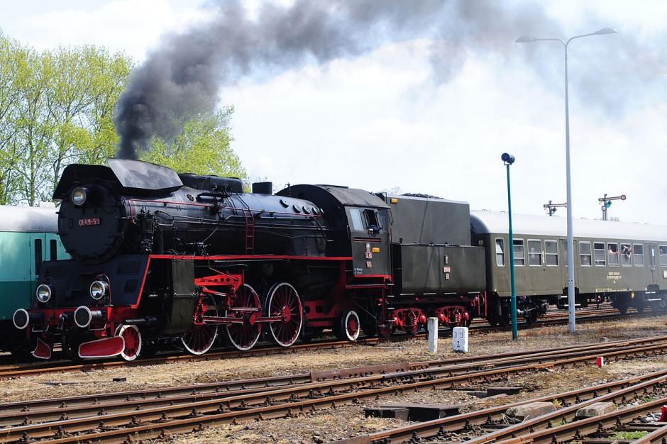Przejazd zabytkowym pociągiem z okazji 100. rocznicy wybuchu powstania wielkopolskiego
