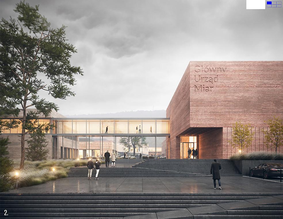 Świętokrzyski Kampus Laboratoryjny Głównego Urzędu Miar w Kielcach - wizualizacja (fot. BDM Architekci/UM Kielce)
