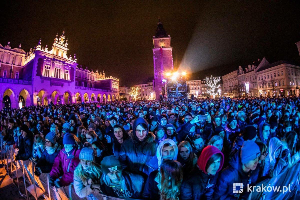 Sylwester w Krakowie (fot. Twitter/Kraków)