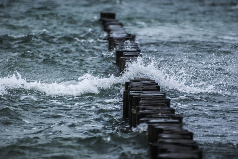 Wysoki stan wody na Bałtyku i silny wiatr