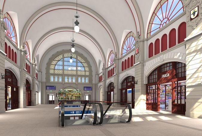 Wizualizacja holu głównego dworca Gdańsk Główny po przebudowie (fot. PKP SA)