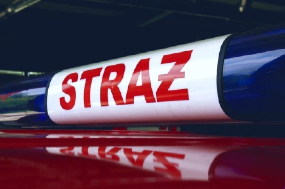 Śląskie: 35 jednostek straży gasiło pożar składowiska biomasy