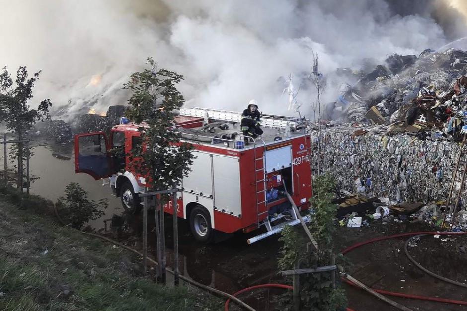 Pożar składowiska odpadów pod Śremem