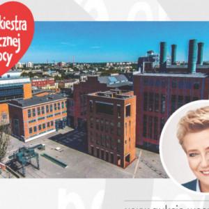 Prezydent  Łodzi, Hanna Zdanowska  wystawiła na aukcji na rzecz WOŚP swoje towarzystwo podczas zwiedzania ekspozycji Centrum Nauki i Techniki EC1, a także m.in. sesję zdjęciową z zespołem Blue Cafe na dachu EC1. (fot. mat. pras. UMŁ)