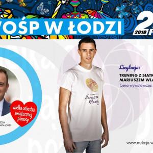 Tomasz Trela , wiceprezydent  Łodzi , wystawił na aukcję trening z siatkarzem, Mariuszem Wlazłym.