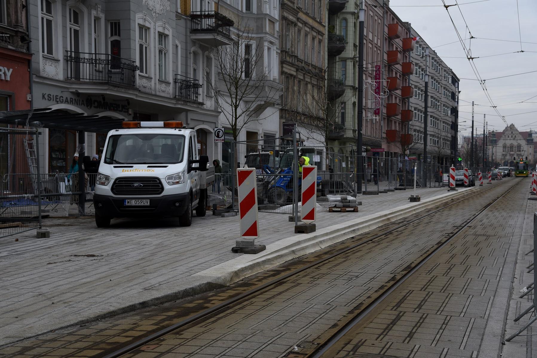 Kończąca się przebudowa odcinka ul. Święty Marcin stanowi pierwszy etap zmian w ramach programu Centrum (fot.poznan.pl)
