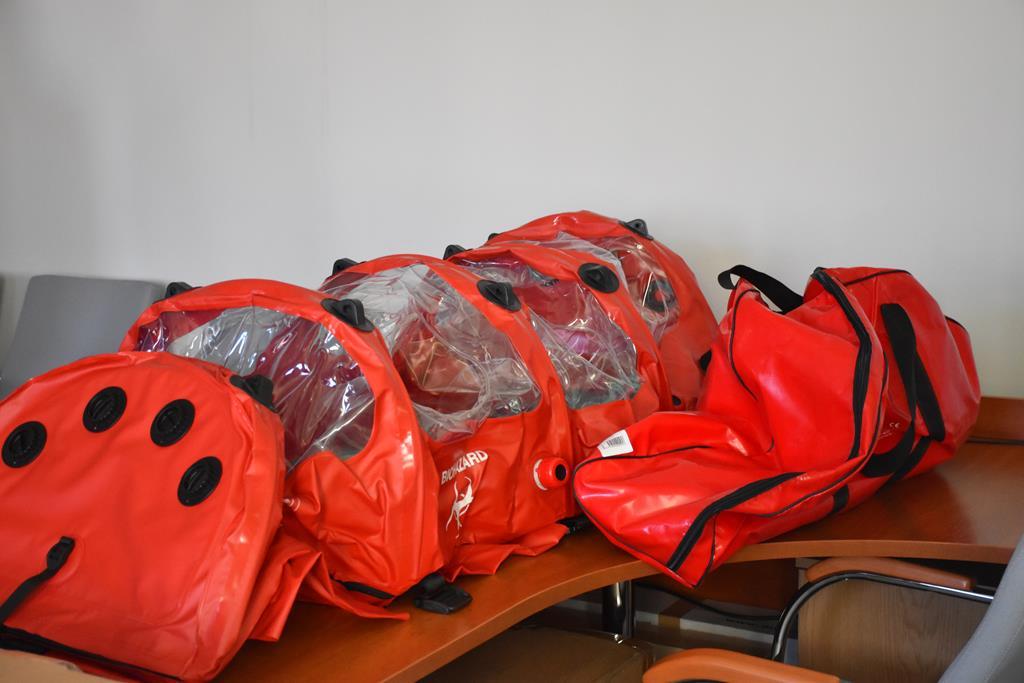Komora do transportu osób chorujących na choroby zakaźne (fot. UW Olsztyn)