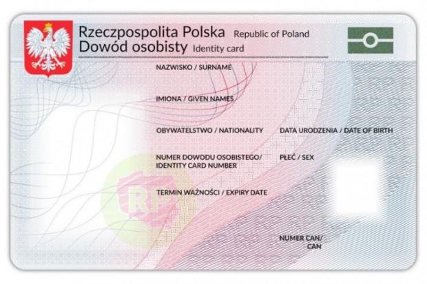 Awers nowego dowodu (fot. mat. prasowe)