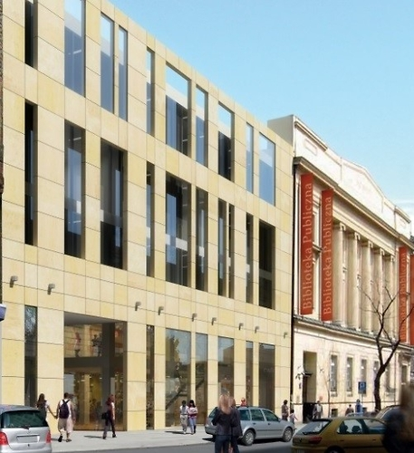 """""""Plomba"""" to czteropiętrowy budynek biblioteki z ponad 40-letnią historią (fot. mazovia.pl)"""