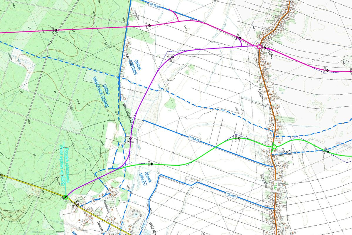 Wybrany wariant na mapie oznaczony jest kolorem fioletowym (fot. UMWP)