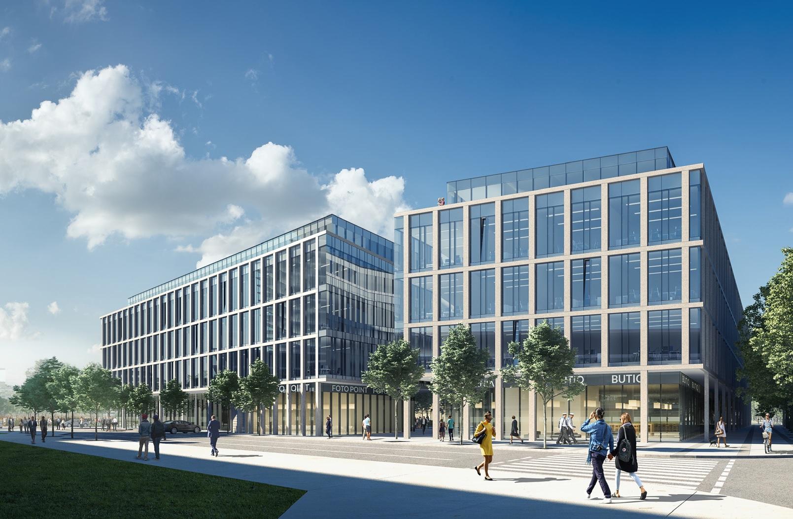 Wizualizacja kompleksu biurowego Marina Office (źródło: gdynia.pl)