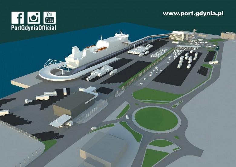Nowy terminal będzie obsługiwał promy nawet do 245 m (fot. port.gdynia.pl)