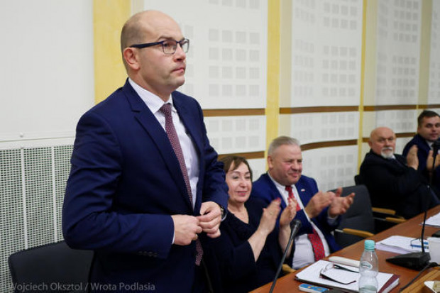 Artur Kosicki został wybrany na marszałka woj. podlaskiego 22 listopada (fot. Wojciech Oksztl/Wrota Podlasia)