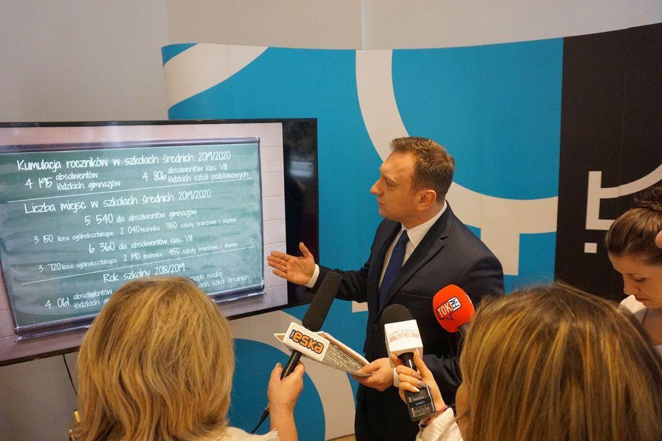 Władze Łodzi gwarantują: każdy uczeń ma zapewnione miejsce w publicznej szkole średniej (fot. UM Łódź)