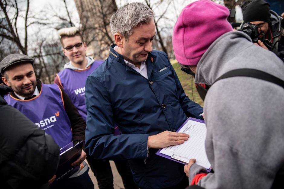 """""""Wiosna"""" chce zebrać 10 tys. podpisów na Warmii, Mazurach i Podlasiu."""
